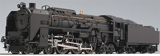 Steam Locomotive 4-6-4 Type C62 with tender (Hokkaido