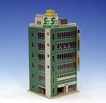 Metro Series 6 Floor Office Building (Green) - Kato 23-434A