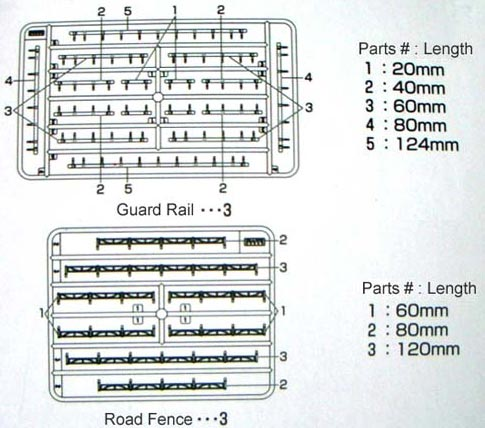 Kato 23-213 Guard Rails and Road scale Fences N